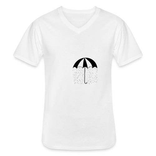 Umbrella - Maglietta da uomo classica con scollo a V