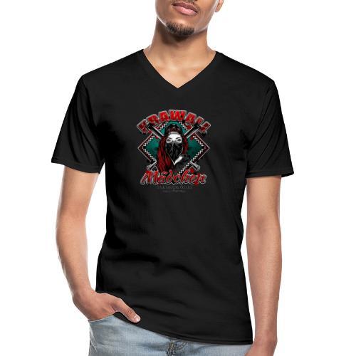 Krawallmädchen - Klassisches Männer-T-Shirt mit V-Ausschnitt