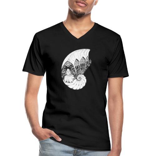 Shelly - Klassisches Männer-T-Shirt mit V-Ausschnitt
