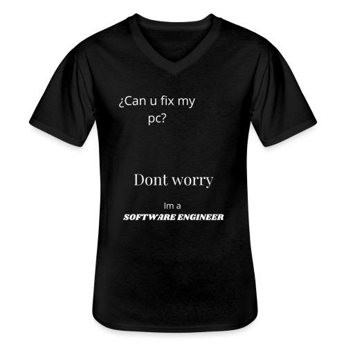 Software engineer - Camiseta clásica con cuello de pico hombre