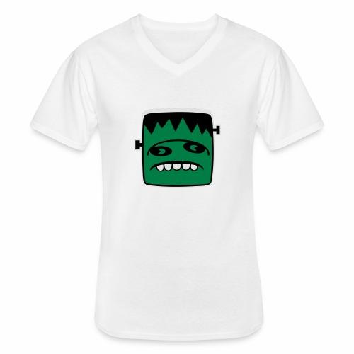 Fonster pur weißer Rand - Klassisches Männer-T-Shirt mit V-Ausschnitt