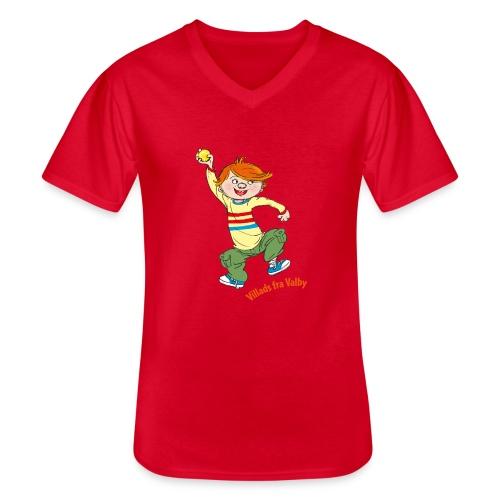 Villads fra Valby - Klassisk herre T-shirt med V-udskæring