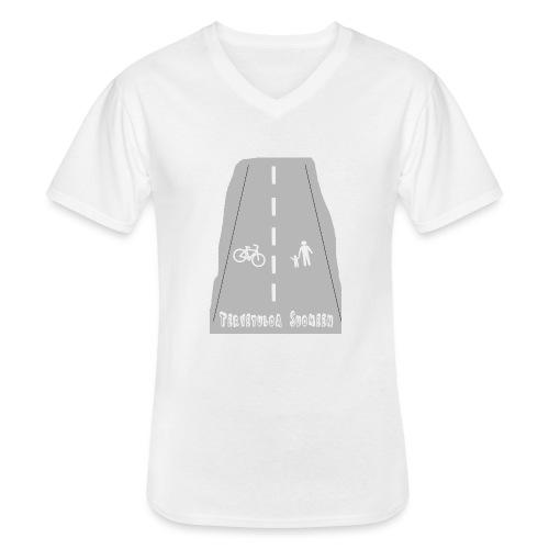 Tervetuloa Suomeen - Klassinen miesten t-paita v-pääntiellä