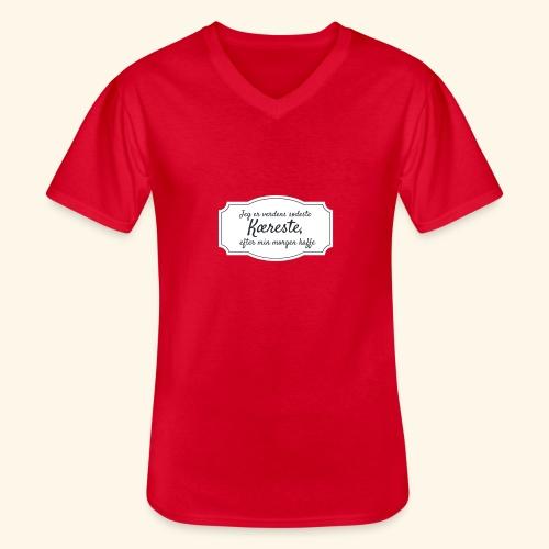 Verdens sødeste kæreste - Klassisk herre T-shirt med V-udskæring