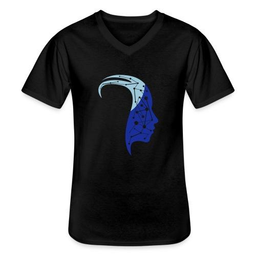 Lost in mind - Klassisches Männer-T-Shirt mit V-Ausschnitt
