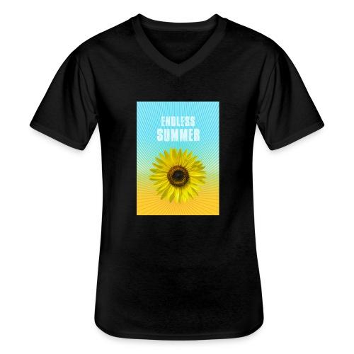 sunflower endless summer Sonnenblume Sommer - Men's V-Neck T-Shirt