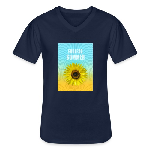 sunflower endless summer Sonnenblume Sommer - Men's V-Neck T-Shirt