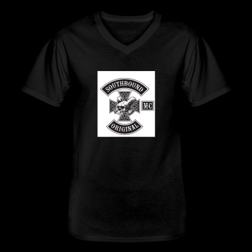 SOUTHBOUND - Klassinen miesten t-paita v-pääntiellä