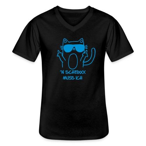Vorschau: n scheixxx muss ich - Klassisches Männer-T-Shirt mit V-Ausschnitt