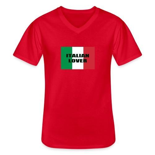ITALIAN LOVER - Maglietta da uomo classica con scollo a V