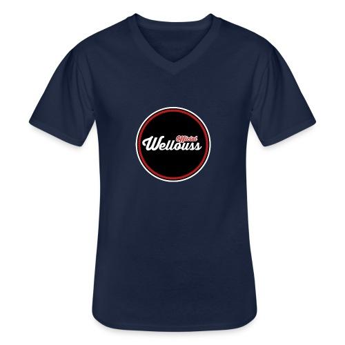 Wellouss Fan T-shirt | Rood - Klassiek mannen T-shirt met V-hals