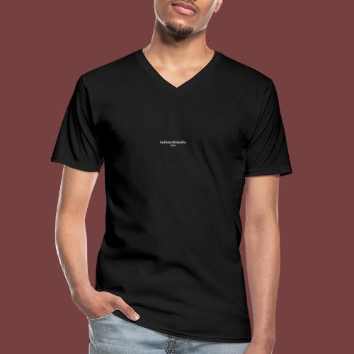 boffaboffaboffa hvit tekst - Klassisk T-skjorte med V-hals for menn