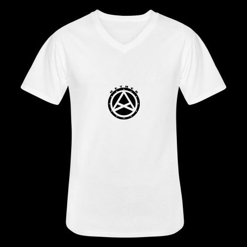 Nether Crew Black\White T-shirt - Maglietta da uomo classica con scollo a V