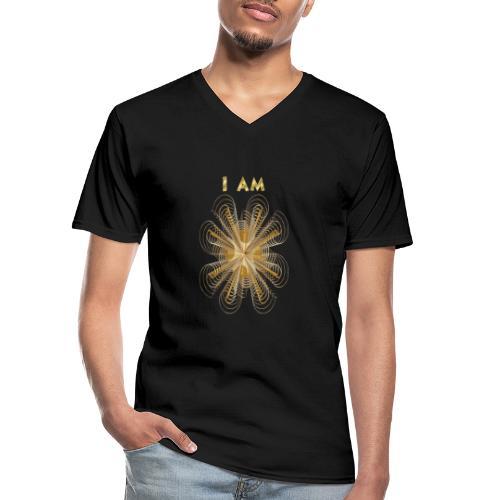 I AM - Maglietta da uomo classica con scollo a V