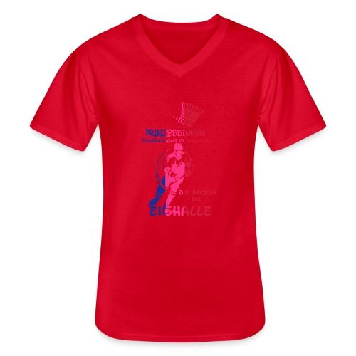 Eishockeyprinzessin - Klassisches Männer-T-Shirt mit V-Ausschnitt