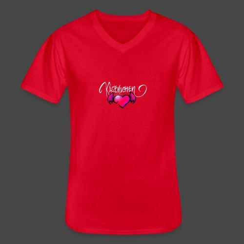Logo and name - Men's V-Neck T-Shirt