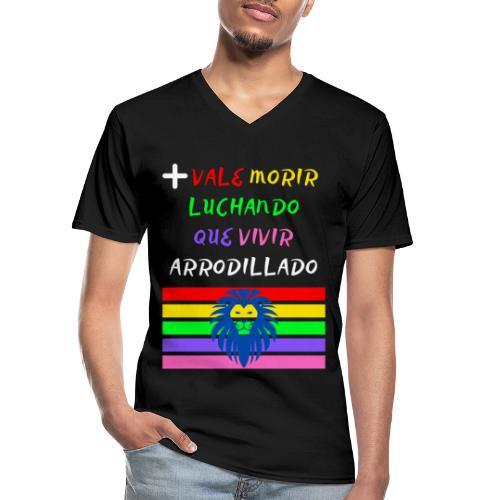Mas Vale Morir Luchando - Camiseta clásica con cuello de pico hombre