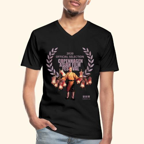 CAFF - Official Item - Shaolin Warrior 4 - Klassisk herre T-shirt med V-udskæring
