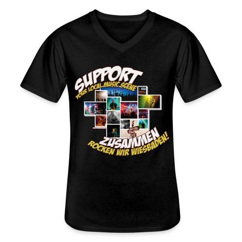 Support local music scene - Aktions-Shirt - Klassisches Männer-T-Shirt mit V-Ausschnitt