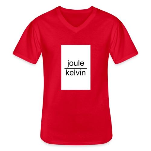 J/K unità di misura dell'ENTROPIA - Maglietta da uomo classica con scollo a V