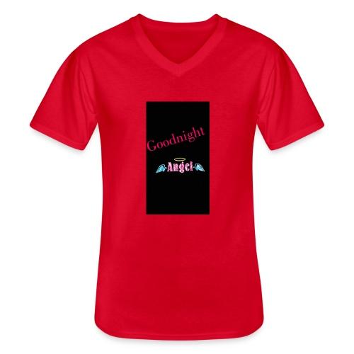 goodnight Angel Snapchat - Men's V-Neck T-Shirt
