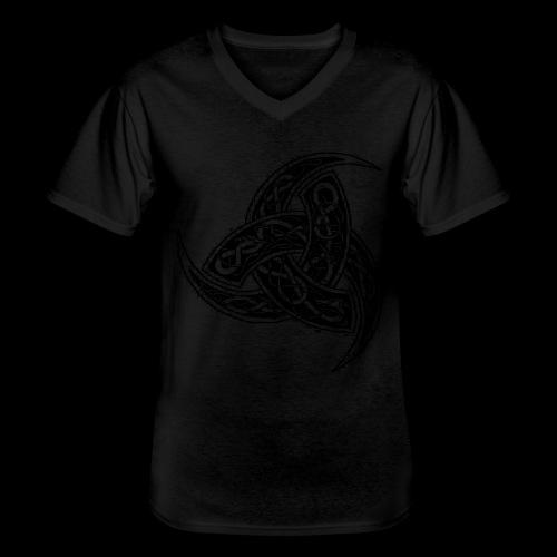 Odin grafisk svart horn Klassisk T skjorte med V hals for