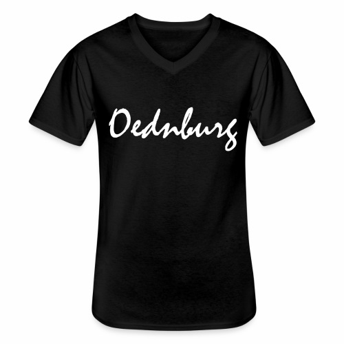 Oednburg Wit - Klassiek mannen T-shirt met V-hals