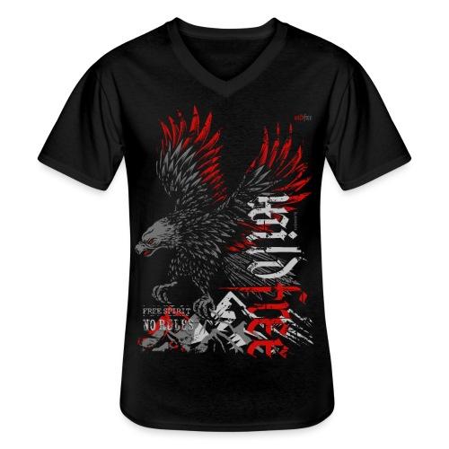 WILDFREE | EAGLE - Klassisches Männer-T-Shirt mit V-Ausschnitt