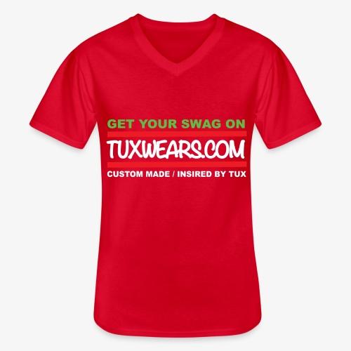 TUXWEARS.COM - Men's V-Neck T-Shirt