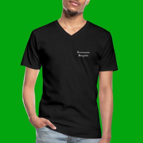 Rover logo en Tekst, Je kan zelf naam toevoegen - Klassiek mannen T-shirt met V-hals
