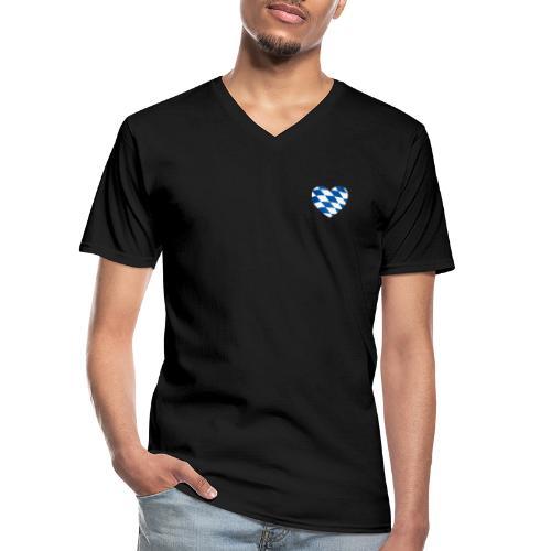 Bavarian Connection - Klassisches Männer-T-Shirt mit V-Ausschnitt