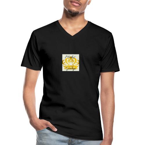 Midas George - Camiseta clásica con cuello de pico hombre