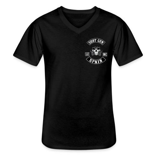 MAD CITY TRIPLE - Camiseta clásica con cuello de pico hombre