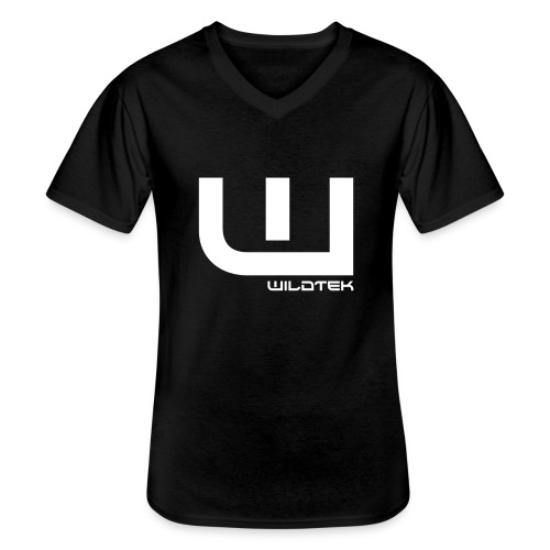Wildtek Logo White - Men's V-Neck T-Shirt