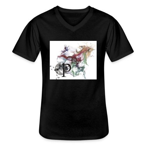 grafik1 - Klassisches Männer-T-Shirt mit V-Ausschnitt