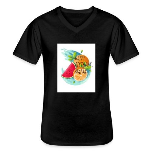20190618 005537 0000 - Klassisches Männer-T-Shirt mit V-Ausschnitt