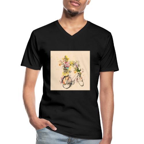 Shoppiful - Maglietta da uomo classica con scollo a V