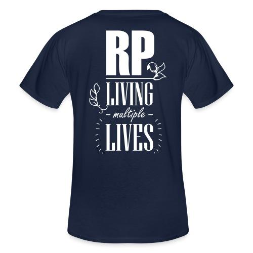 Role play - Living multiple lives - Klassisk herre T-shirt med V-udskæring