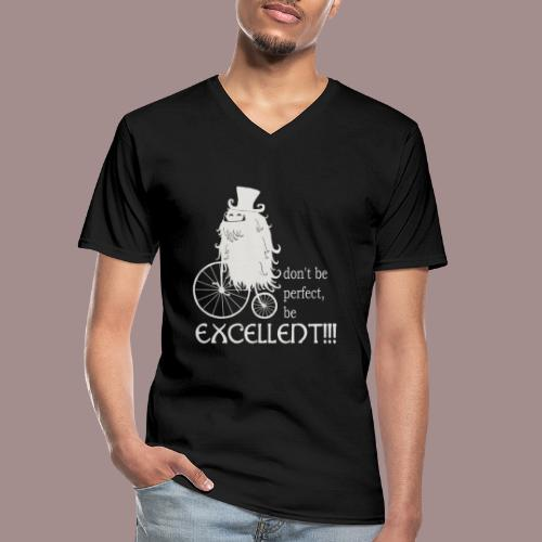 Excellent1 - Klassisches Männer-T-Shirt mit V-Ausschnitt