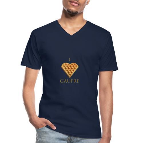 i love gaufre - T-shirt classique col V Homme