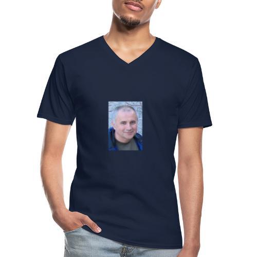 tibor csikos - Klassisk T-shirt med V-ringning herr