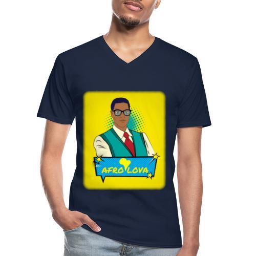 Pop Man Afro - T-shirt classique col V Homme