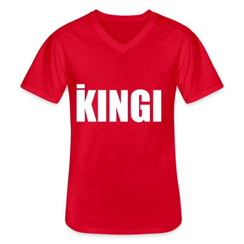 iKINGI - Klassinen miesten t-paita v-pääntiellä