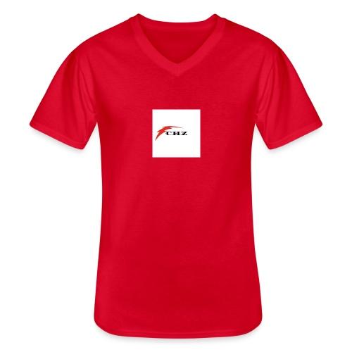 CHZ LAZER - Maglietta da uomo classica con scollo a V