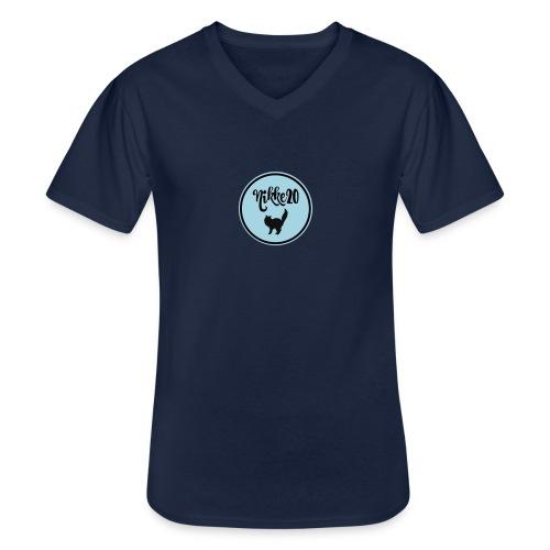 nikke20 - Klassinen miesten t-paita v-pääntiellä