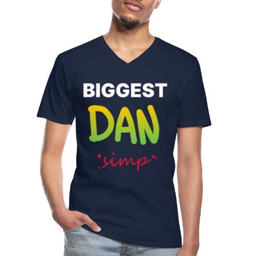 We all simp for Dan - Klassisk herre T-shirt med V-udskæring