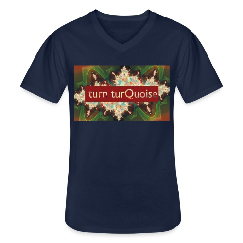 turn turQuoise Logo 2 - Klassisches Männer-T-Shirt mit V-Ausschnitt