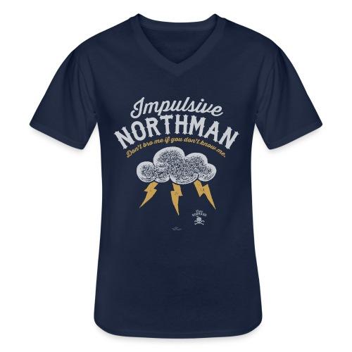 Impulsive Northman - Klassisk herre T-shirt med V-udskæring