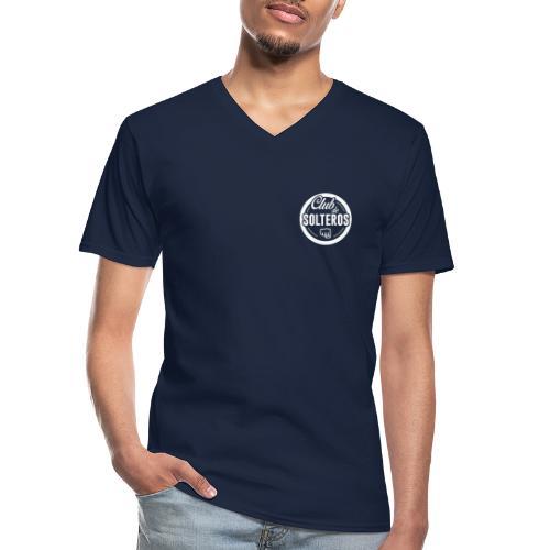 Club de Solteros (logo blanco) - Camiseta clásica con cuello de pico hombre