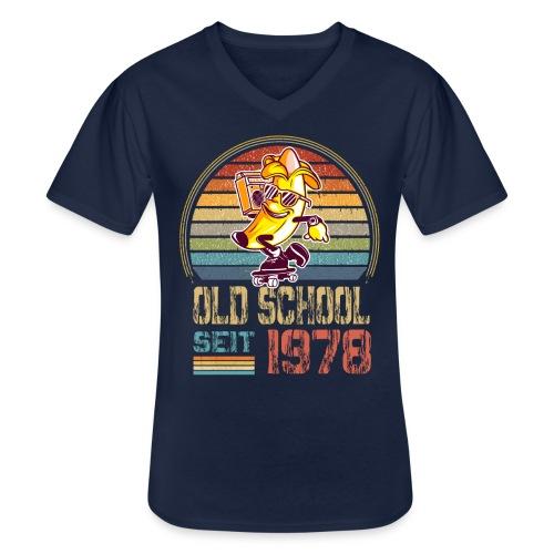 Jahrgang 1978 Skateboard Geburtstag 1978 Geschenk - Klassisches Männer-T-Shirt mit V-Ausschnitt
